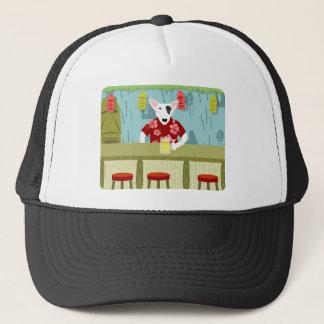 English Bull Terrier Tiki Bar Trucker Hat