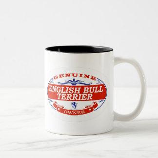 English Bull Terrier  Two-Tone Coffee Mug