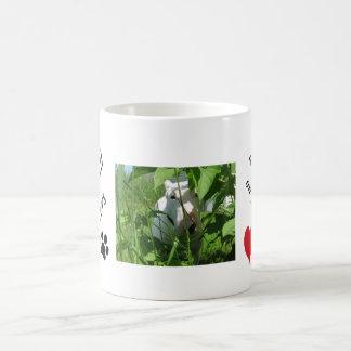 English Bull Terriers leave paw prints Classic White Coffee Mug