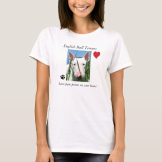 English Bull Terriers leave paw prints T-Shirt