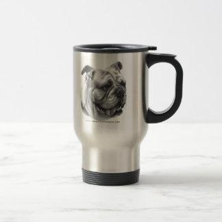 English Bulldog 15 Oz Stainless Steel Travel Mug