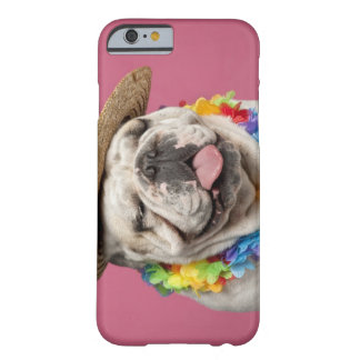 English Bulldog (18 months old) wearing a straw Barely There iPhone 6 Case