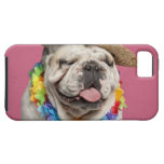 English Bulldog (18 months old) wearing a straw iPhone 5 Case