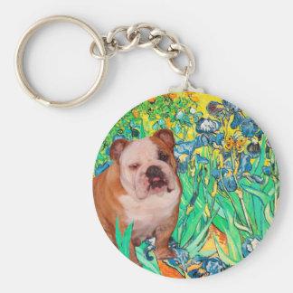 English Bulldog 1 - Irises Keychains