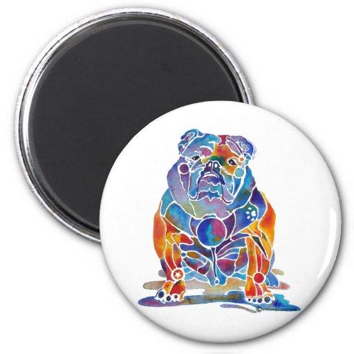 English Bulldog 2 Inch Round Magnet