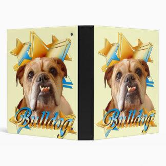 English bulldog 3 ring binder
