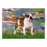 English Bulldog 5 - Lilies Cards