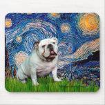 English Bulldog 8 - Starry Night Mouse Mat