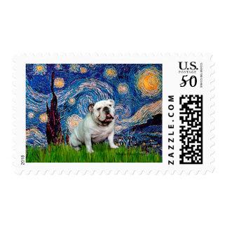 English Bulldog 8 - Starry Night Postage