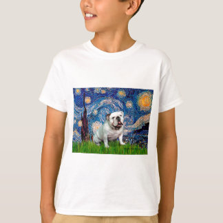 English Bulldog 8 - Starry Night T-Shirt