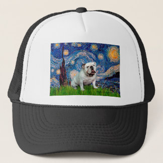 English Bulldog 8 - Starry Night Trucker Hat