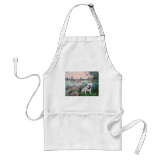 English Bulldog 9 - By the Seine Adult Apron
