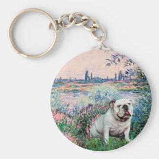 English Bulldog 9 - By the Seine Key Chains