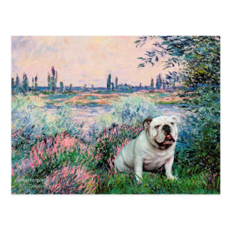 English Bulldog 9 - By the Seine Postcard