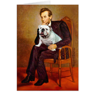English Bulldog 9 - Lincoln Card
