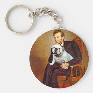English Bulldog 9 - Lincoln Keychain