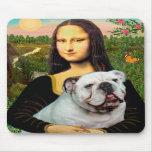English Bulldog 9 - Mona Lisa Mouse Pads