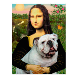 English Bulldog 9 - Mona Lisa Postcard