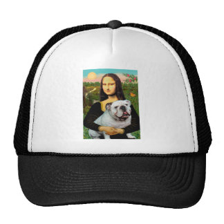 English Bulldog 9 - Mona Lisa Trucker Hat