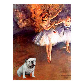 English Bulldog 9 - Two Dancers Postcard