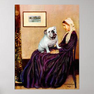 English Bulldog 9 - Whistler's Mother Poster