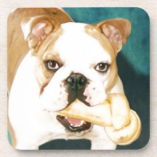 "English Bulldog ""Adagio"" Drink Coasters"