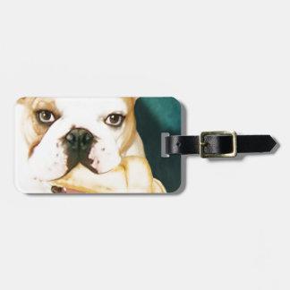 """English Bulldog """"Adagio"""" Luggage Tag"""