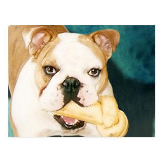 """English Bulldog """"Adagio"""" Postcard"""