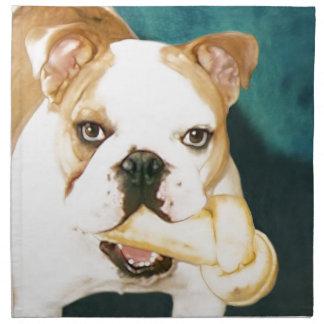 """English Bulldog """"Adagio"""" Printed Napkin"""