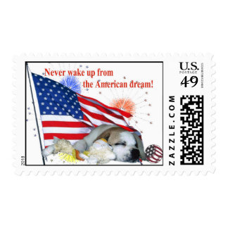 English Bulldog  – American Dream Stamp