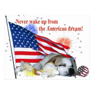 English Bulldog – American Dream Postcard