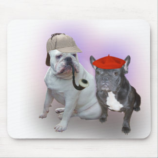 English Bulldog and French Bulldog Mouse Pad
