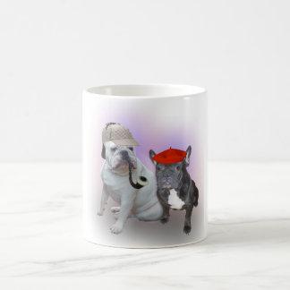 English Bulldog and French Bulldog Classic White Coffee Mug