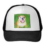 English Bulldog Art cap Mesh Hats