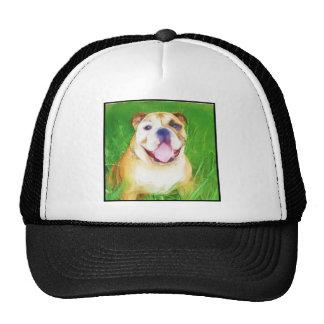 English Bulldog Art cap Trucker Hat