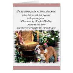 English Bulldog Art Gifts card