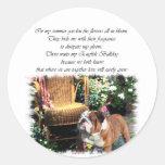 English Bulldog Art Gifts Stickers
