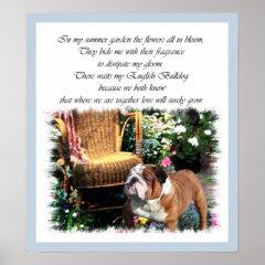 English Bulldog Art Prints print
