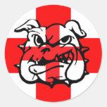English Bulldog awesome English Round Stickers