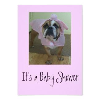 English Bulldog Baby Shower Invitations