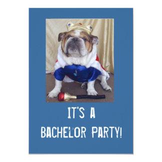 English Bulldog Bachelor Party Ivitations Card