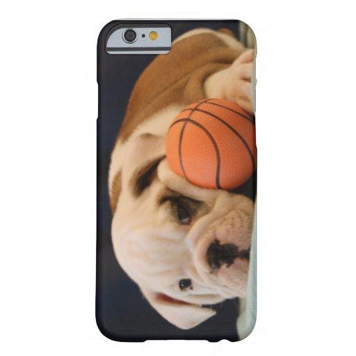 English Bulldog Basketball Puppy iPhone 6 Case
