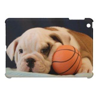 English Bulldog Basketball Puppy iPad Mini Case