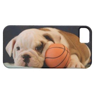 English Bulldog Basketball Puppy iPhone 5 Cover