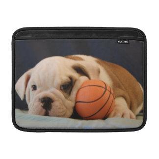 English Bulldog Basketball Puppy MacBook Sleeves