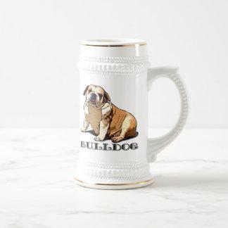 English Bulldog Beer stein Mugs