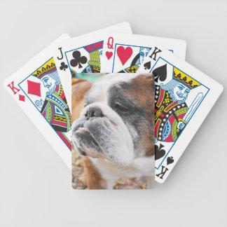 English Bulldog Bicycle Playing Cards