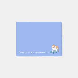 English Bulldog Boarder Post-it Notes