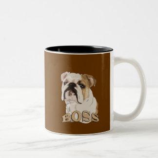 English bulldog_BOSS Two-Tone Coffee Mug