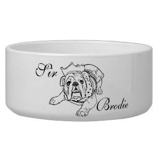 English bulldog bowl dog water bowls